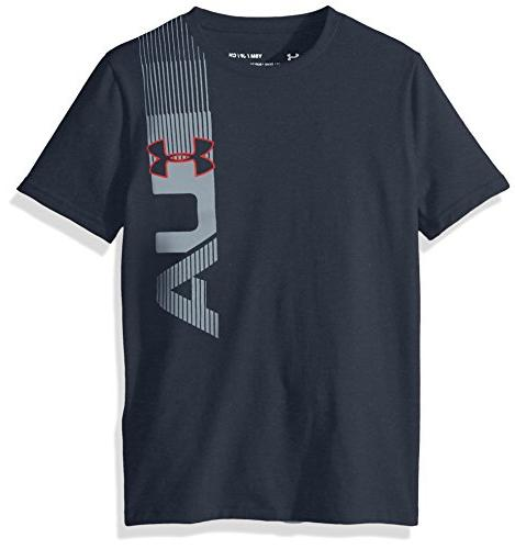 Under Armour Boys' One Sided T-Shirt, Stealth Gray /Red, You