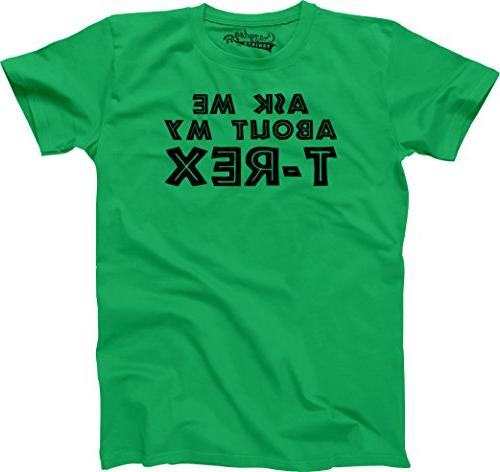 Youth Ask Me About My Trex T Shirt Funny Cool Tee S