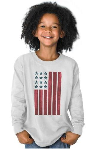 American Flag Patriotic Youth Long Sleeve T Shirts