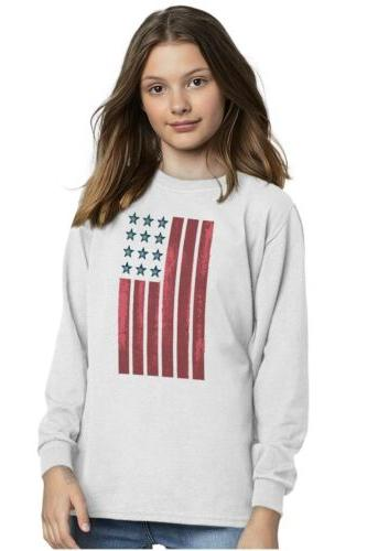 American Patriotic Youth Sleeve T Shirts