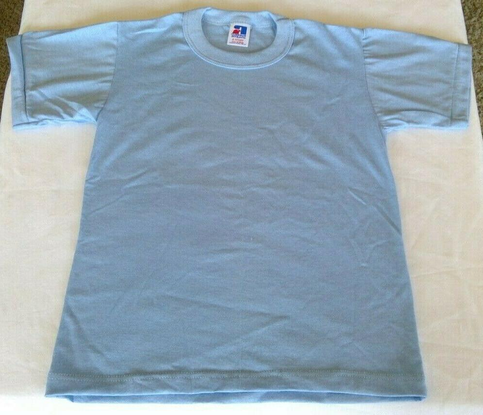 athletic youth small plain light blue t