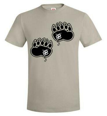 Black Paws Flowers Hanes T-Shirt