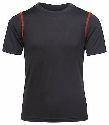 Black Dry-Fit T-Shirts Fit Technology