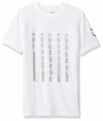 boys heater 5 star t shirt white