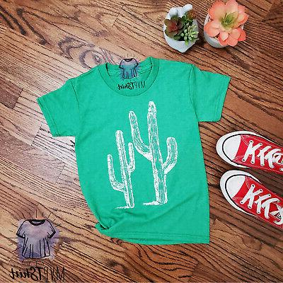 Cactus Adult T-Shirt-Cactus Lover Tee for Mommy me