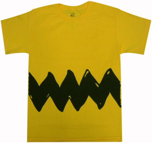 charlie brown double sided zig zag costume