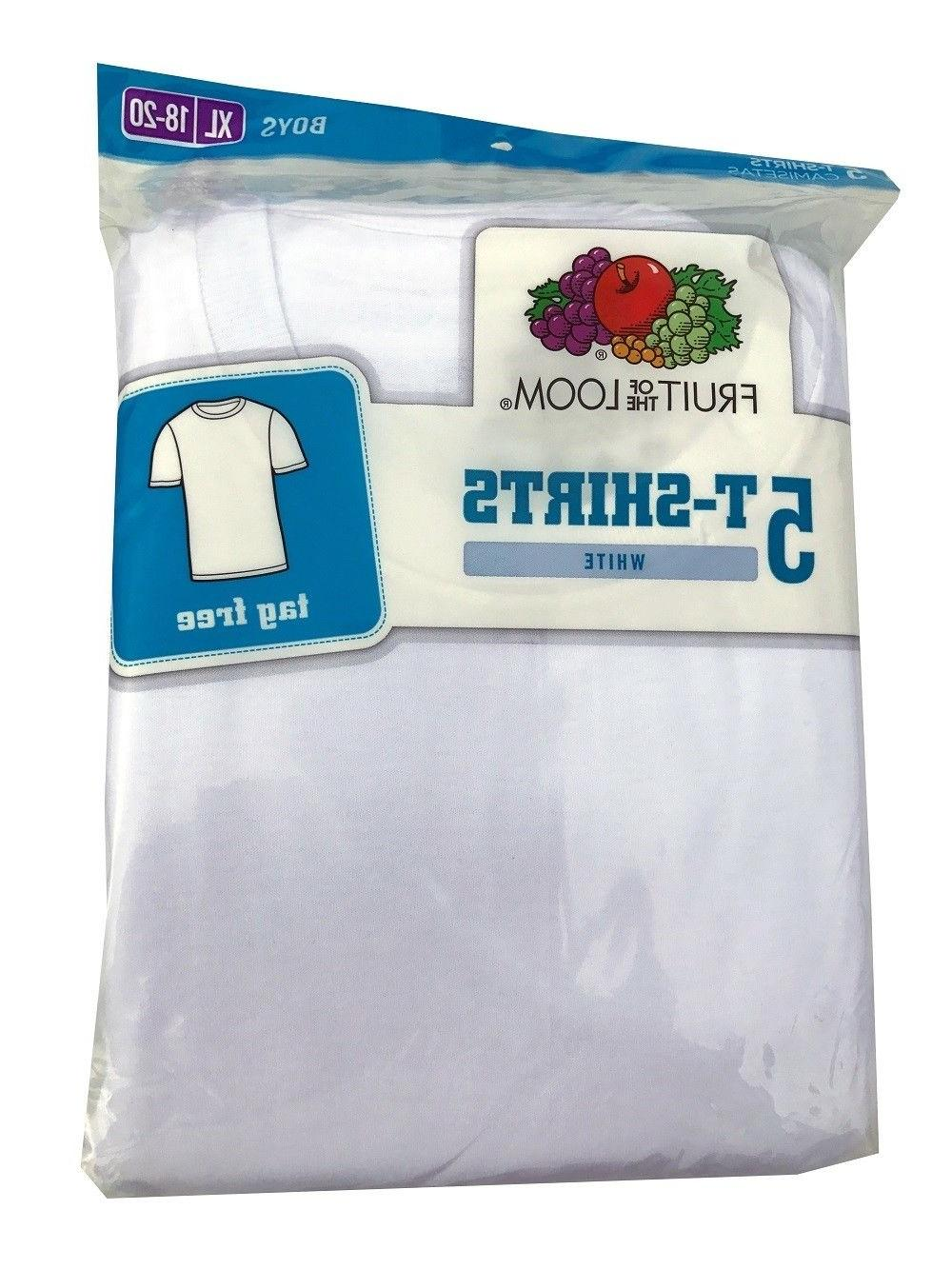 """FRUIT OF THE Classics T-shirts 5-Pack """"TAGLESS"""""""