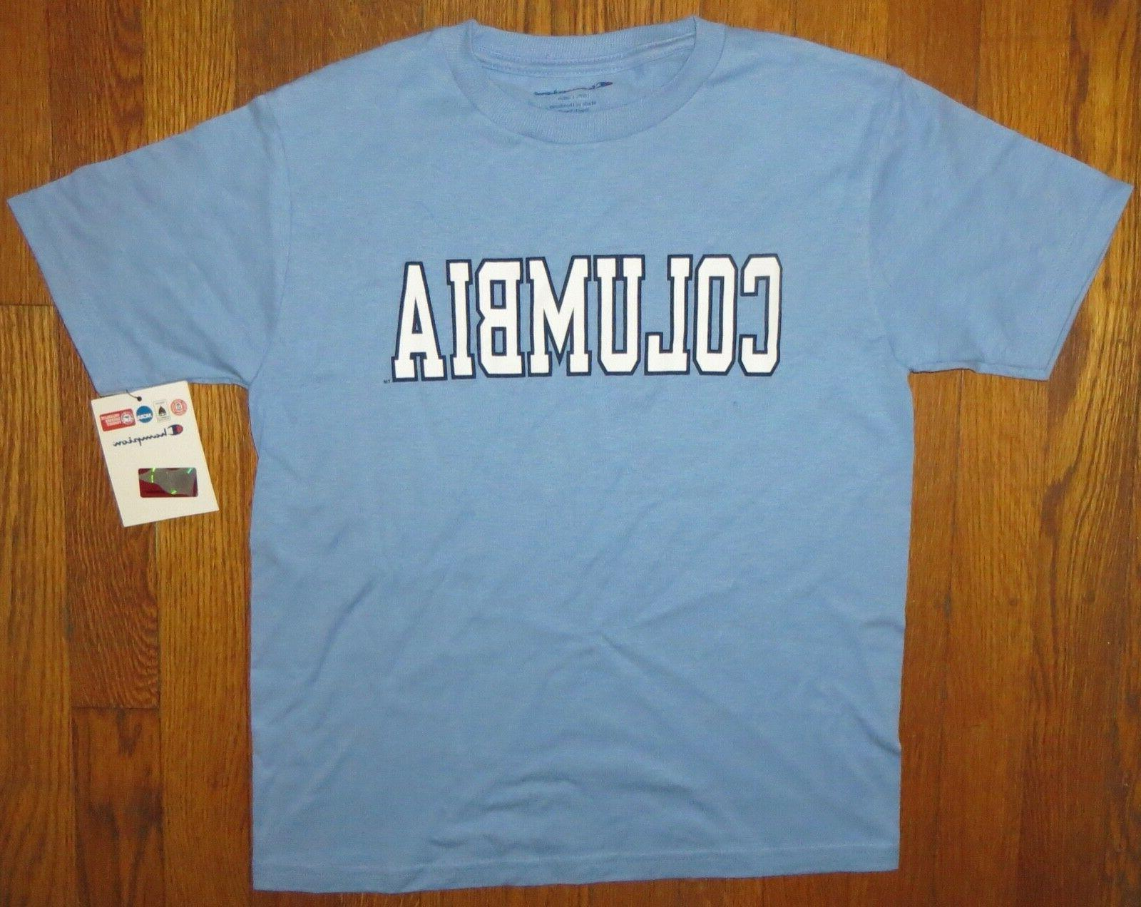 Columbia University boys girls youth small  blue S/S T-shirt