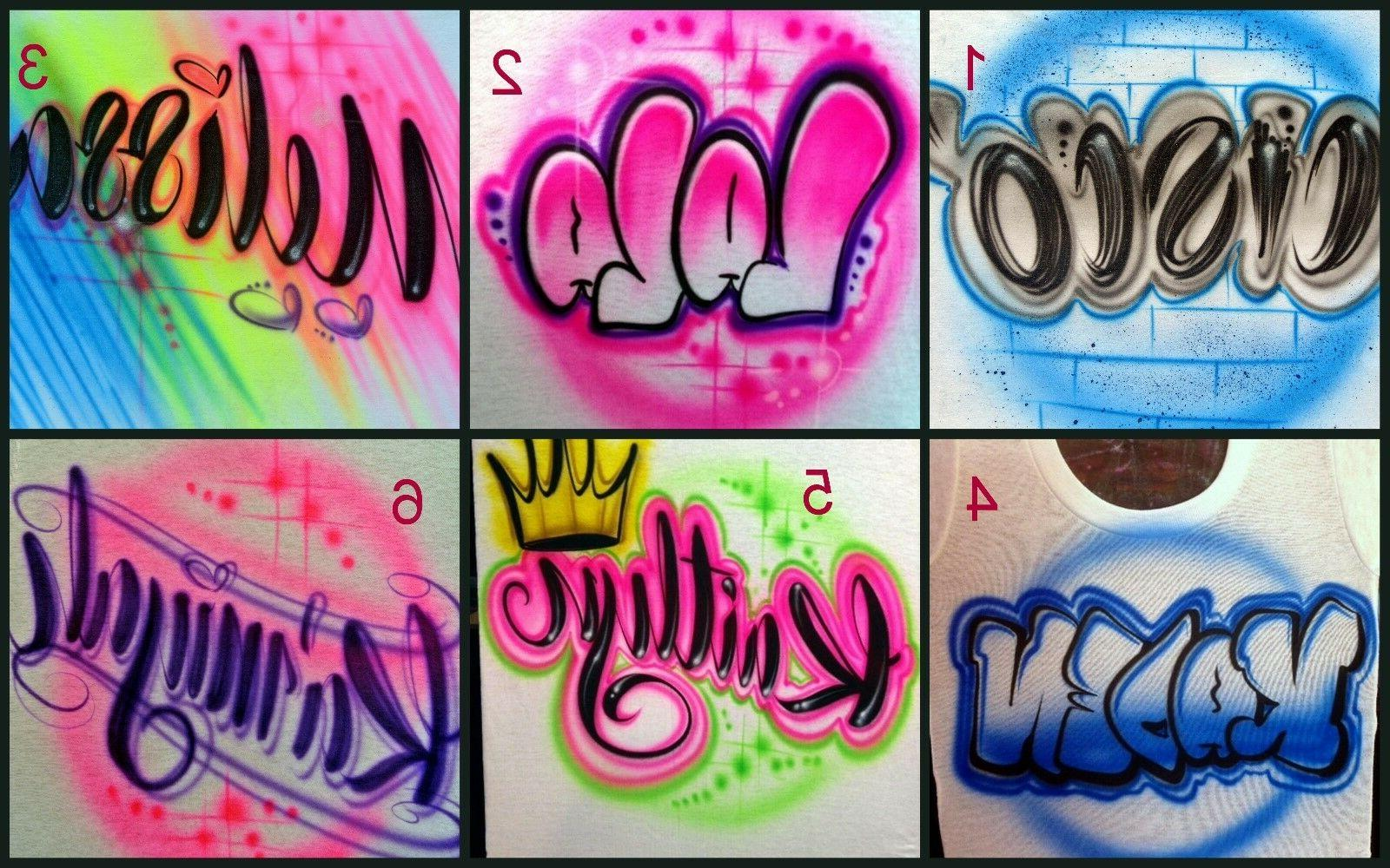 custom airbrushed name design personalize a shirt