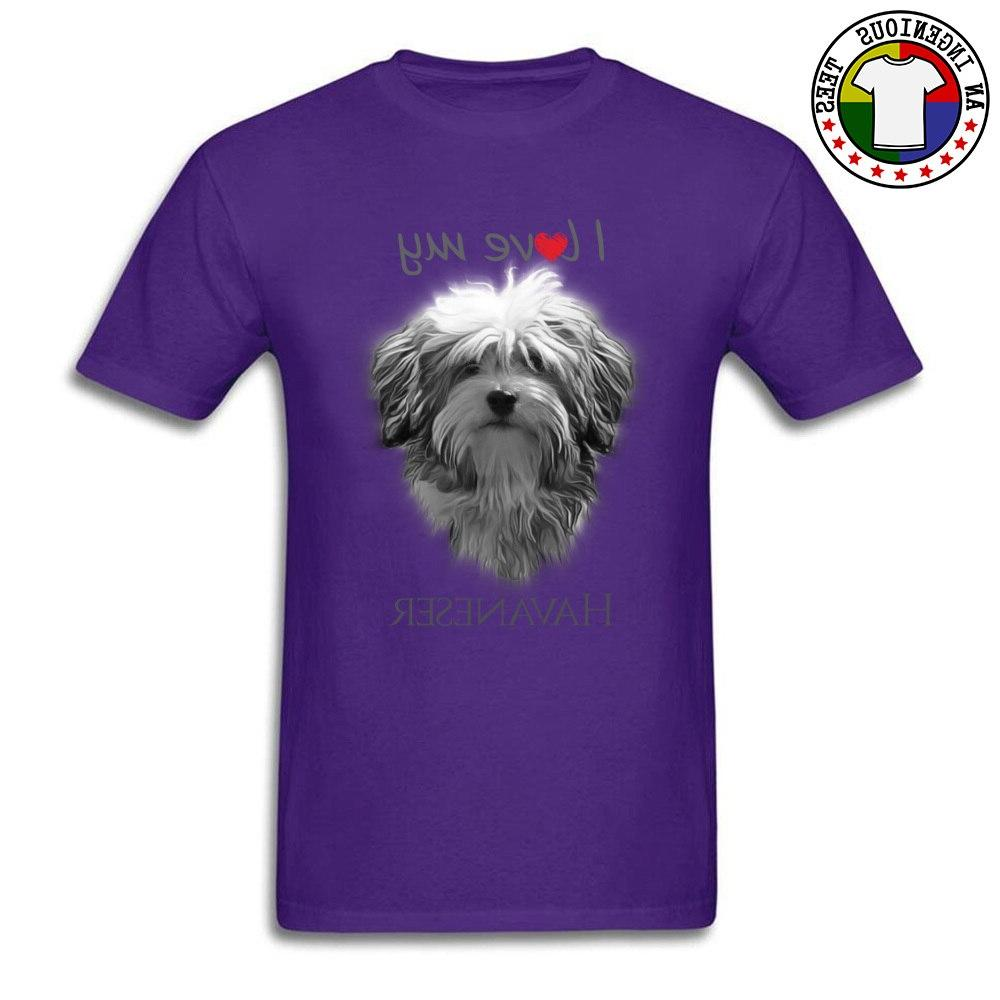 Cute Shih Tzu Dog College <font><b>Tshirt</b></font> Love My Havanese Tops Tees Coming Round Cotton