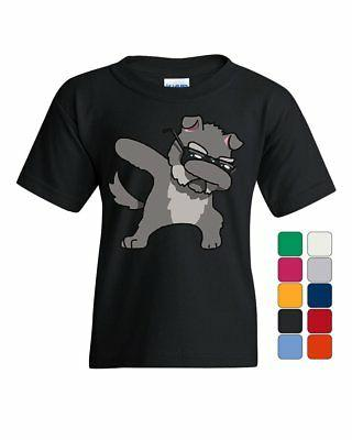 dabbing dog in glasses youth t shirt