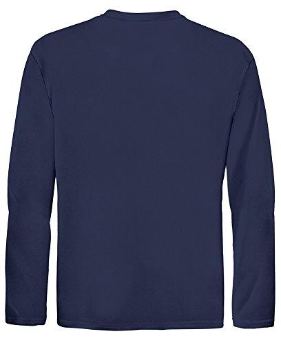 Joe's DRI-EQUIP Long Sleeve Athletic Shirts,M-Navy