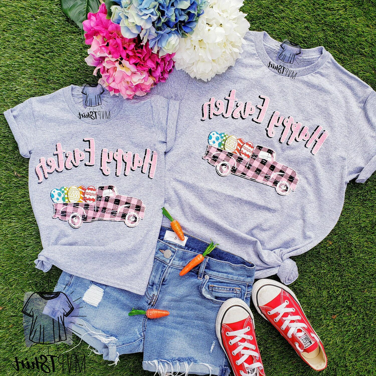 easter shirt happy easter truck adult