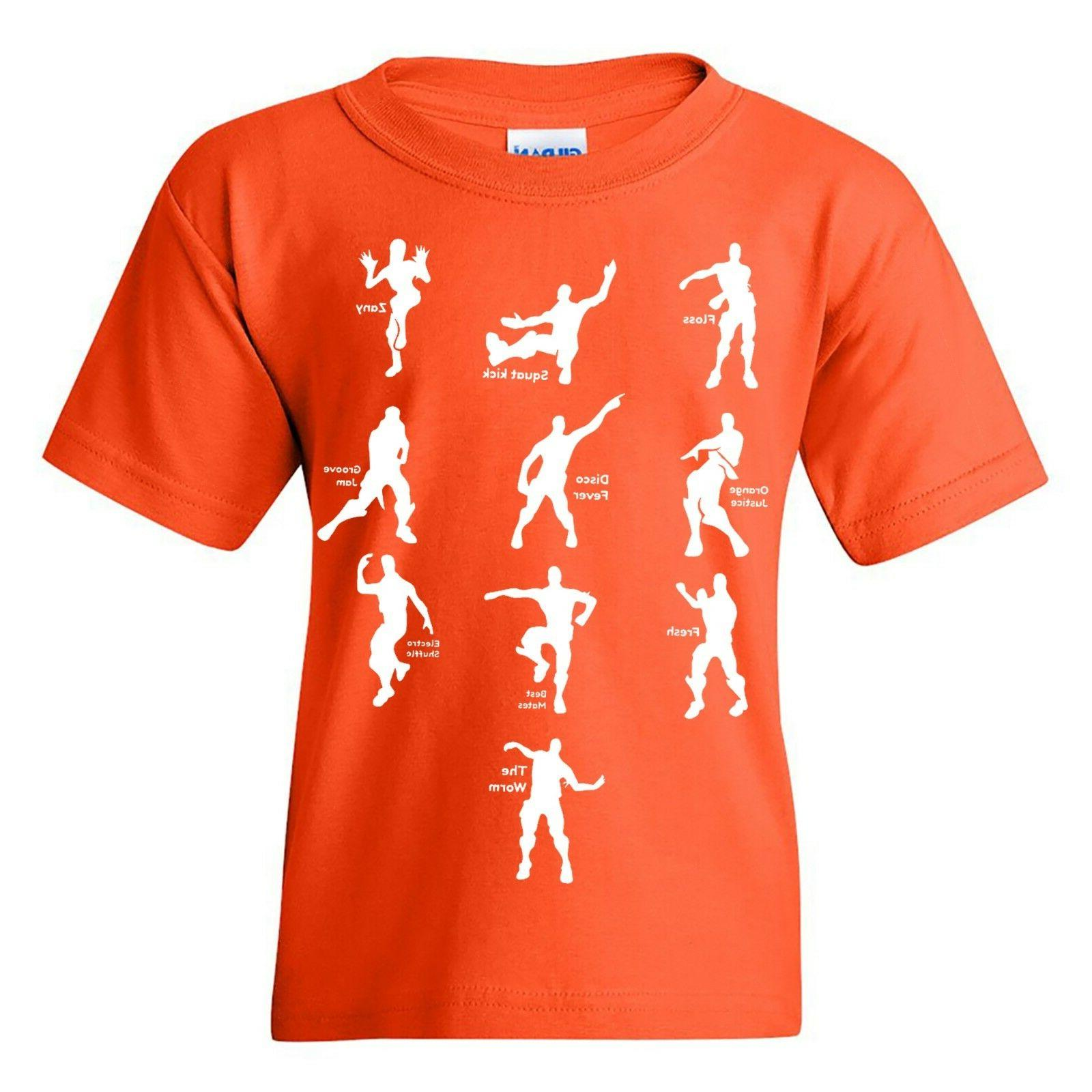 Emote Dances - Gaming Parody Video Game Youth T Shirt