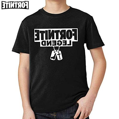 fresh tees Fortnite Legend Gaming Youth T- Shirt