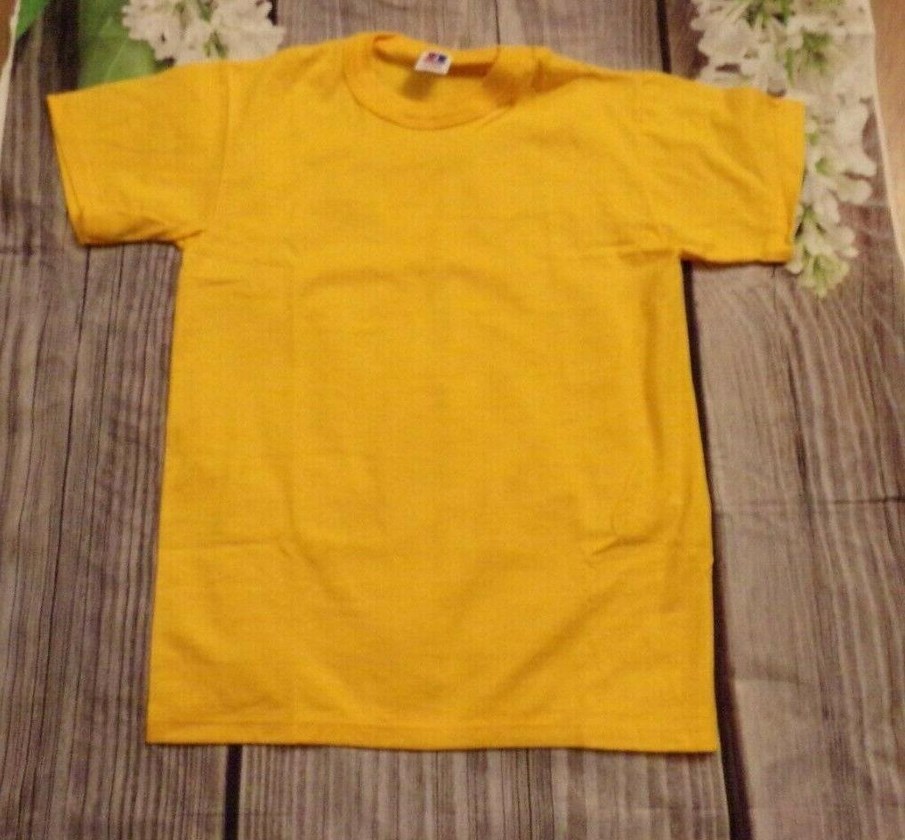 golden yellow youth boys sports tee t