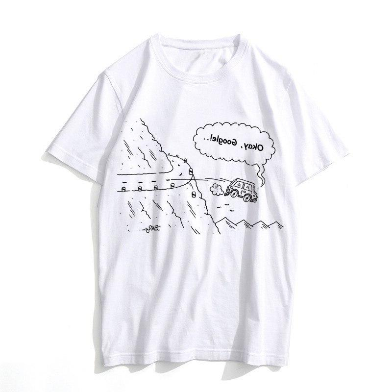 Google Summer O Neck white <font><b>youth</b></font> t casual white anime t-Shirts men top