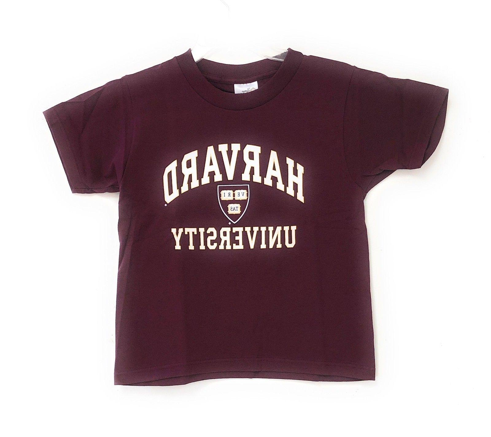 harvard crimson youth kids crest logo t