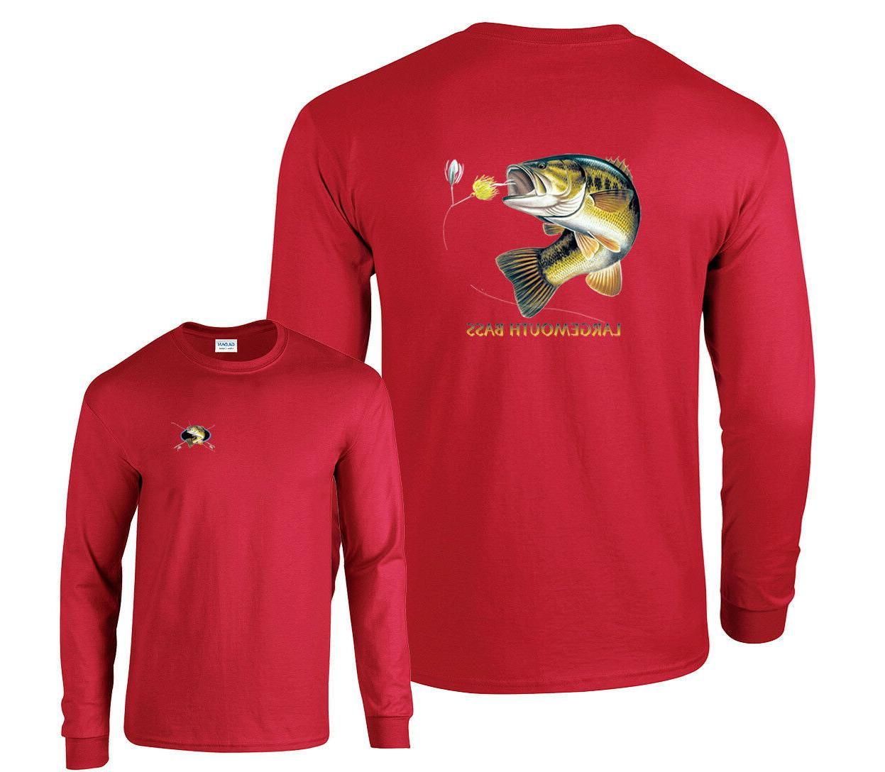 Largemouth Bass Profile Fishing Long Sleeve T-Shirt