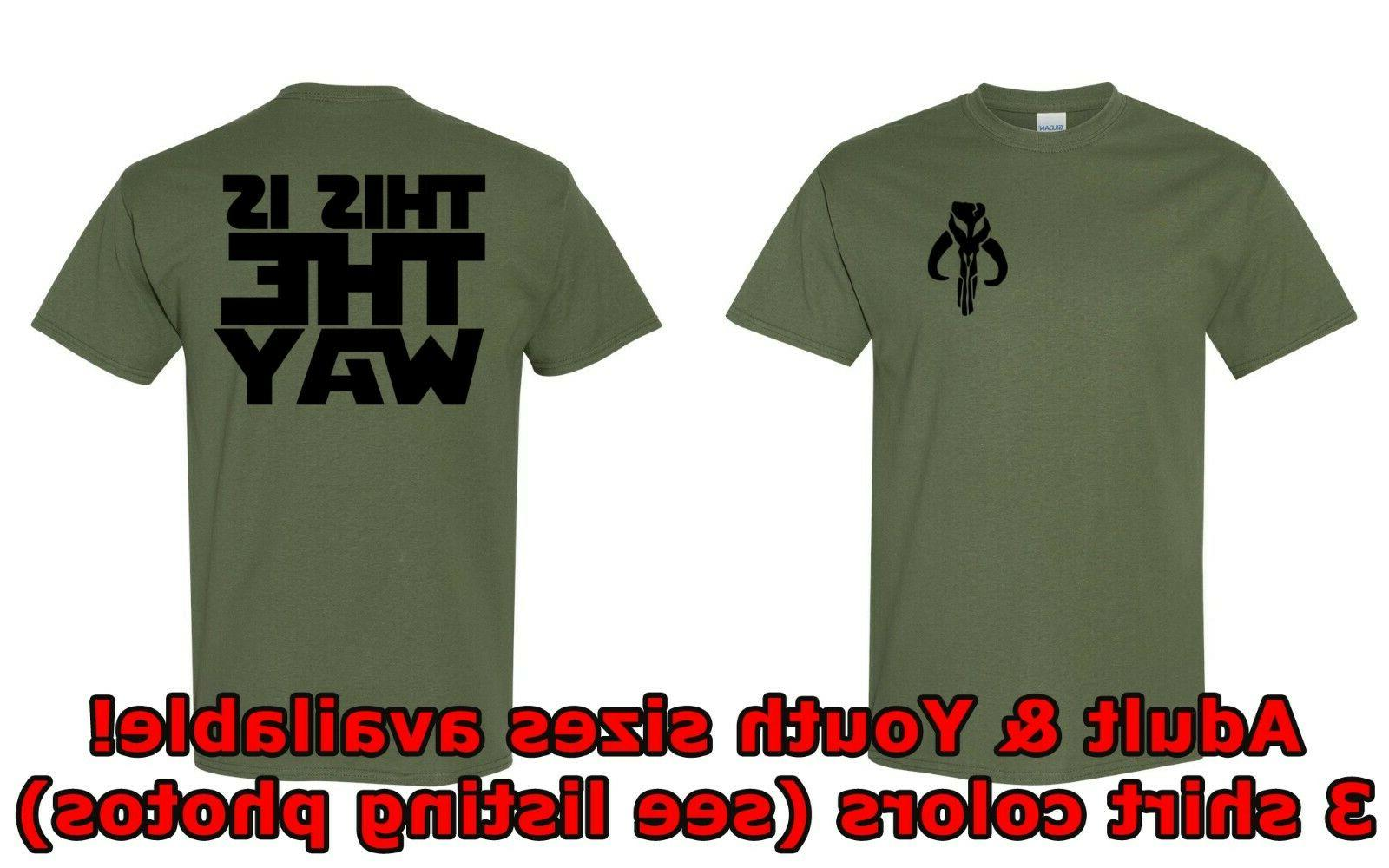 mandalorian guild t shirt youth and adult