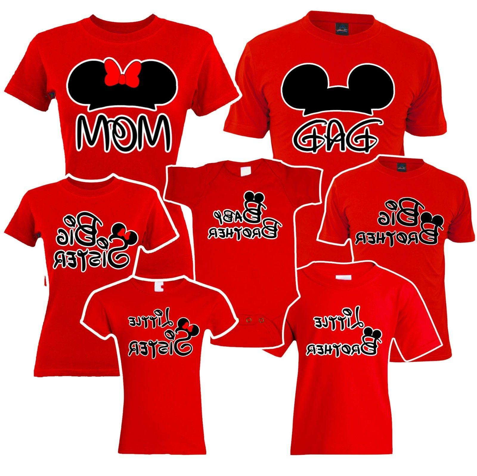 🔥 Mom Dad Big Sister brother Mickey Family Matching T shi
