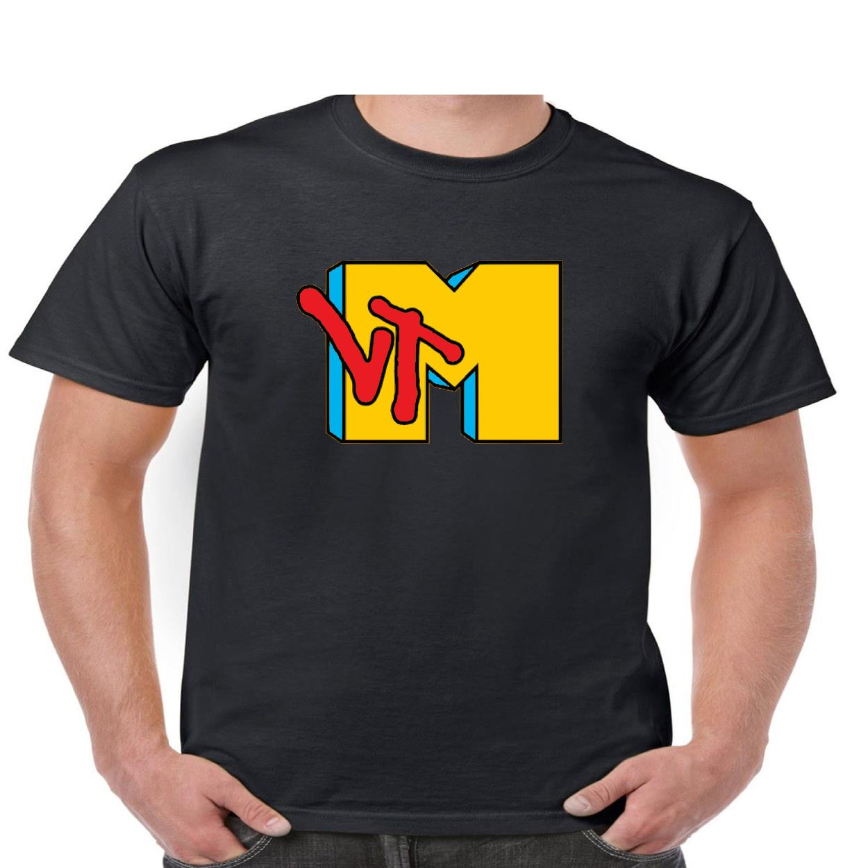 mtv logo t shirt men s