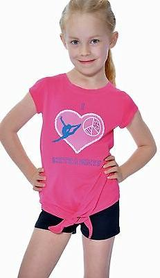 New Girl Gymnastics T-Shirt with tie-front detail Toddler to