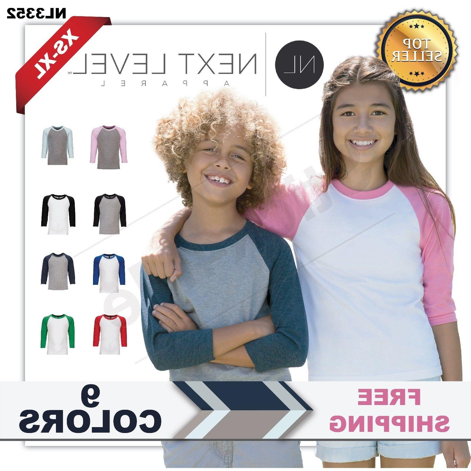 next level youth cvc 3 4 sleeve
