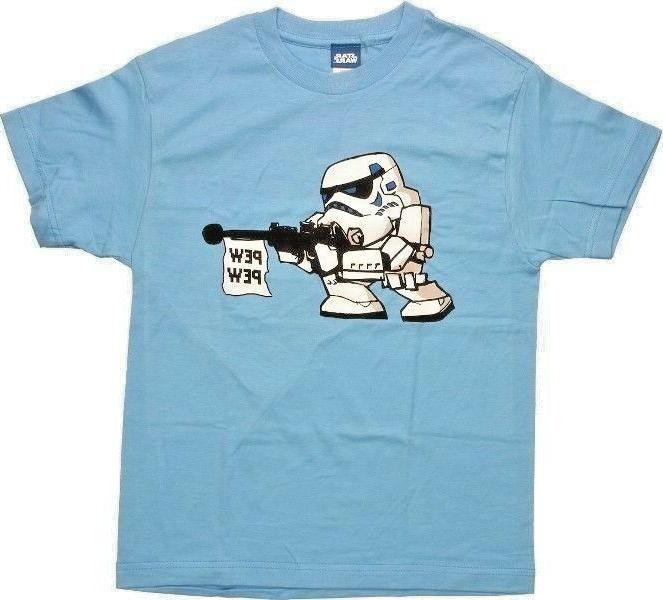 Official licensed Disney Star Wars Stormtrooper Pew Pew Youth T-Shirt