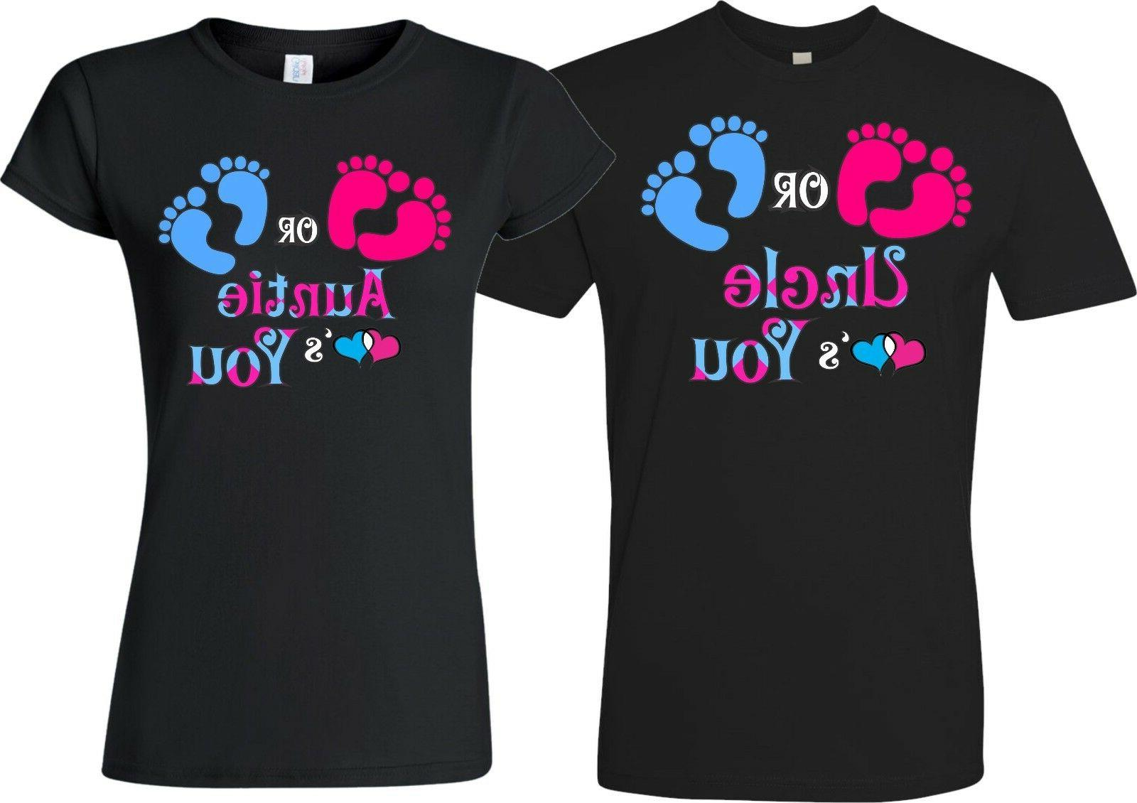 Pink Blue Gender Reveal Family Funny matching cute T-Shirts
