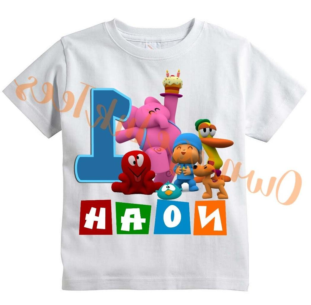 pocoyo number custom t shirt personalize birthday