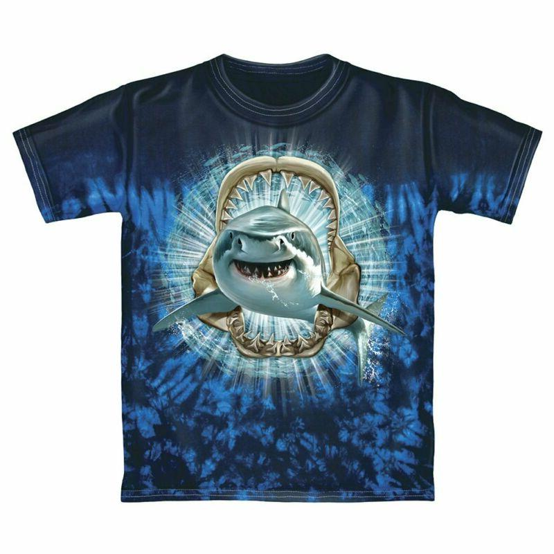 shark tie dye youth tee shirt