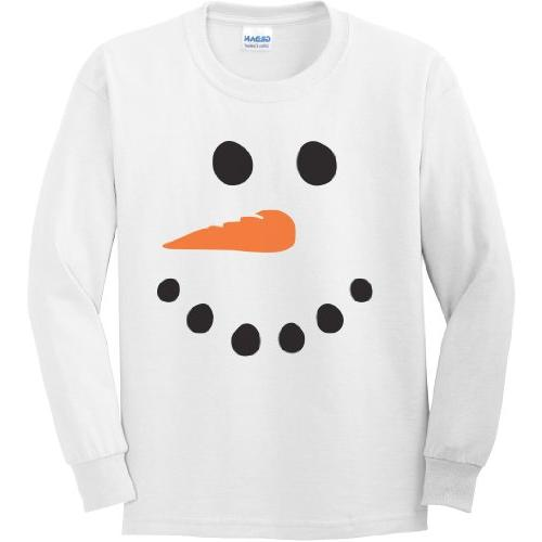 snowman youth long sleeve t