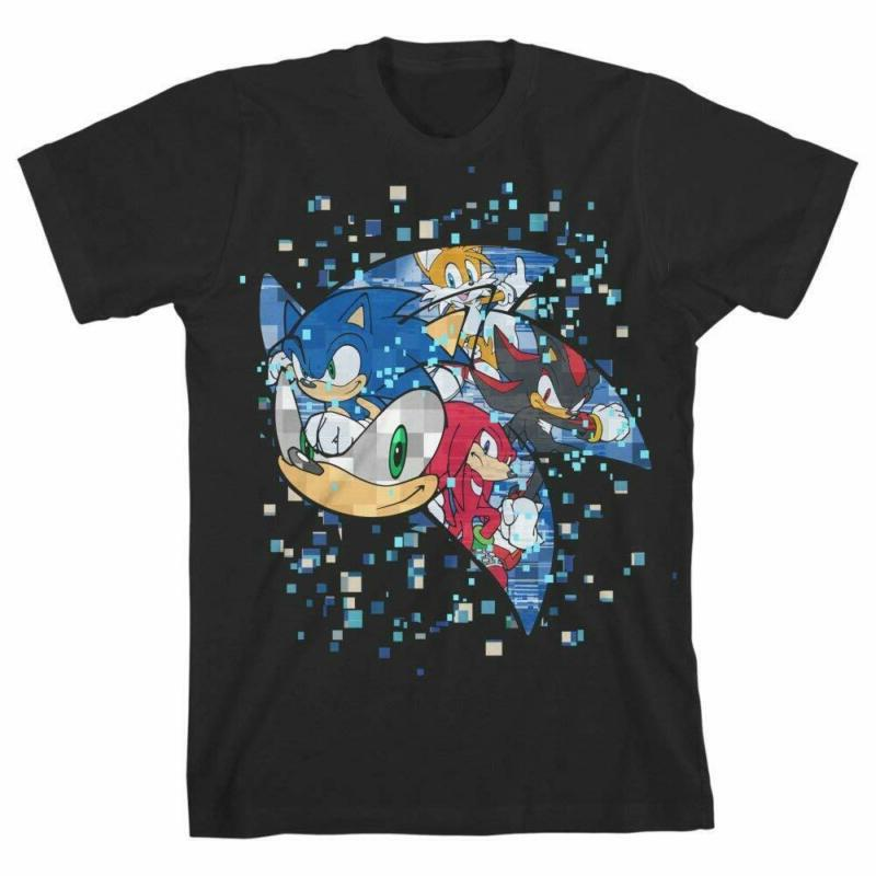 Bioworld Sonic The Hedgehog Pixelated Youth Boys Short-Sleev