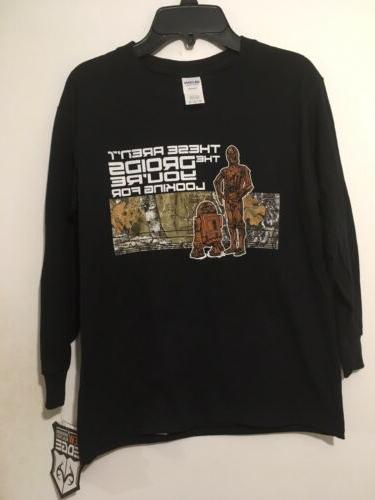 Star Wars Disney Boys Youth Long Sleeve T-Shirt Size Medium