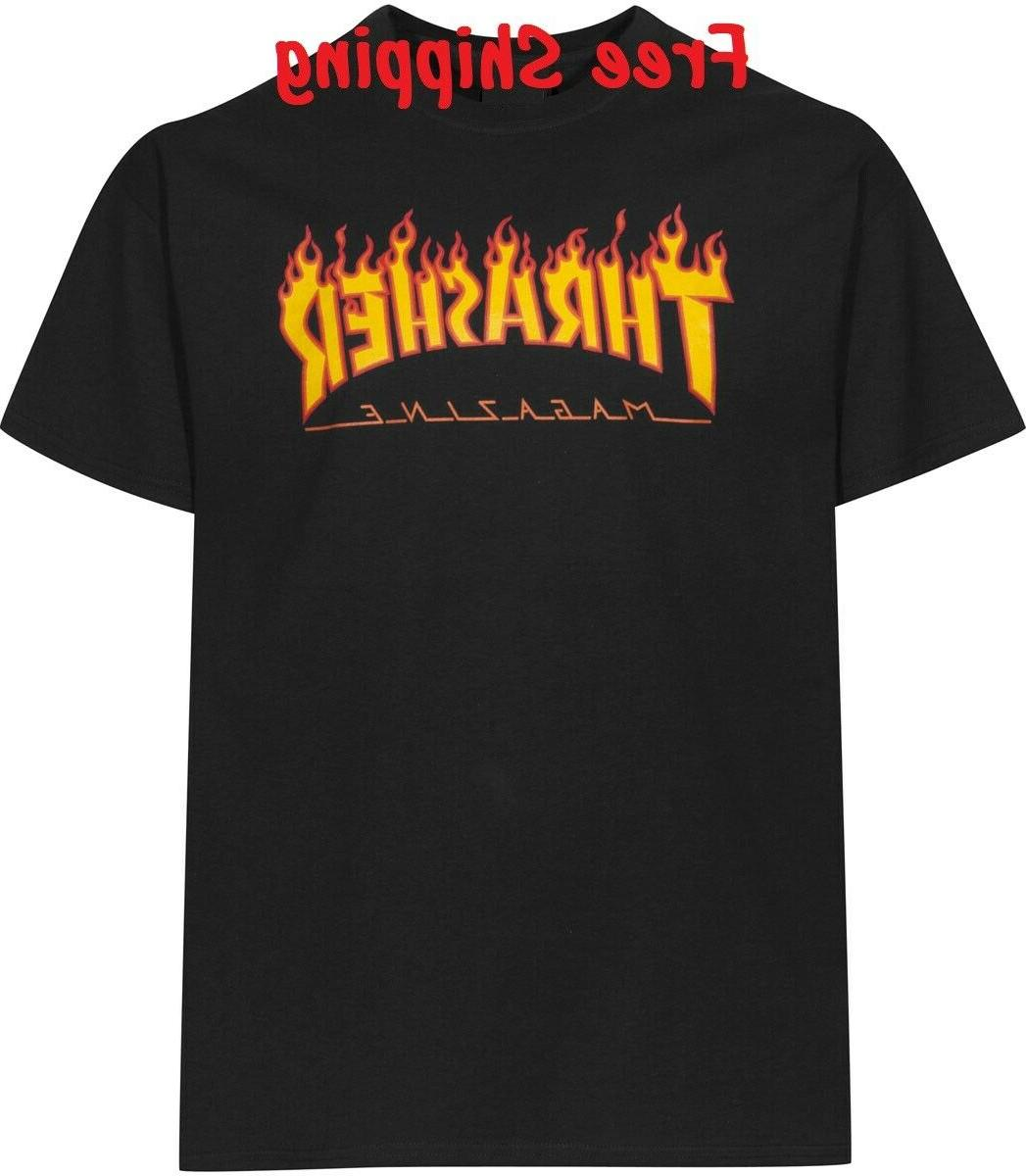 thrasher magazine t shirt skateboard men skateboarding