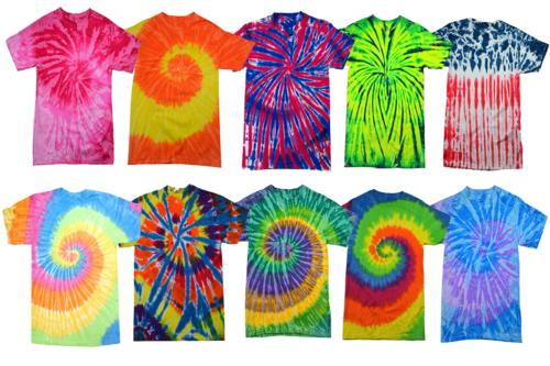 tie dye style t shirts for men