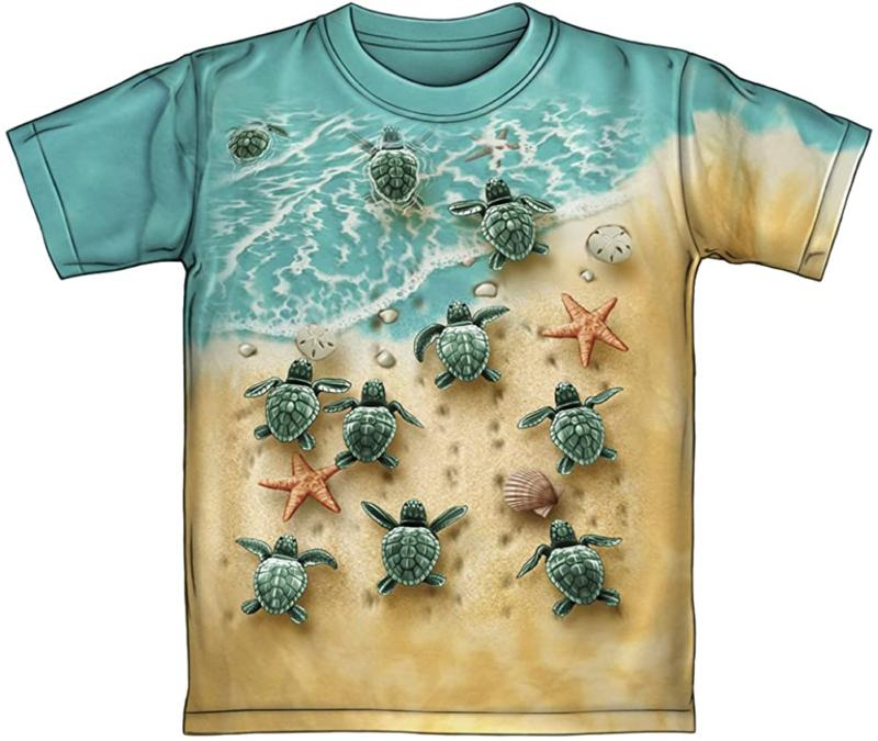 turtles on the beach tie dye youth