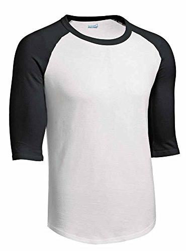 Mens or Youth 3/4 Sleeve 100% Cotton Baseball Tee Shirts You