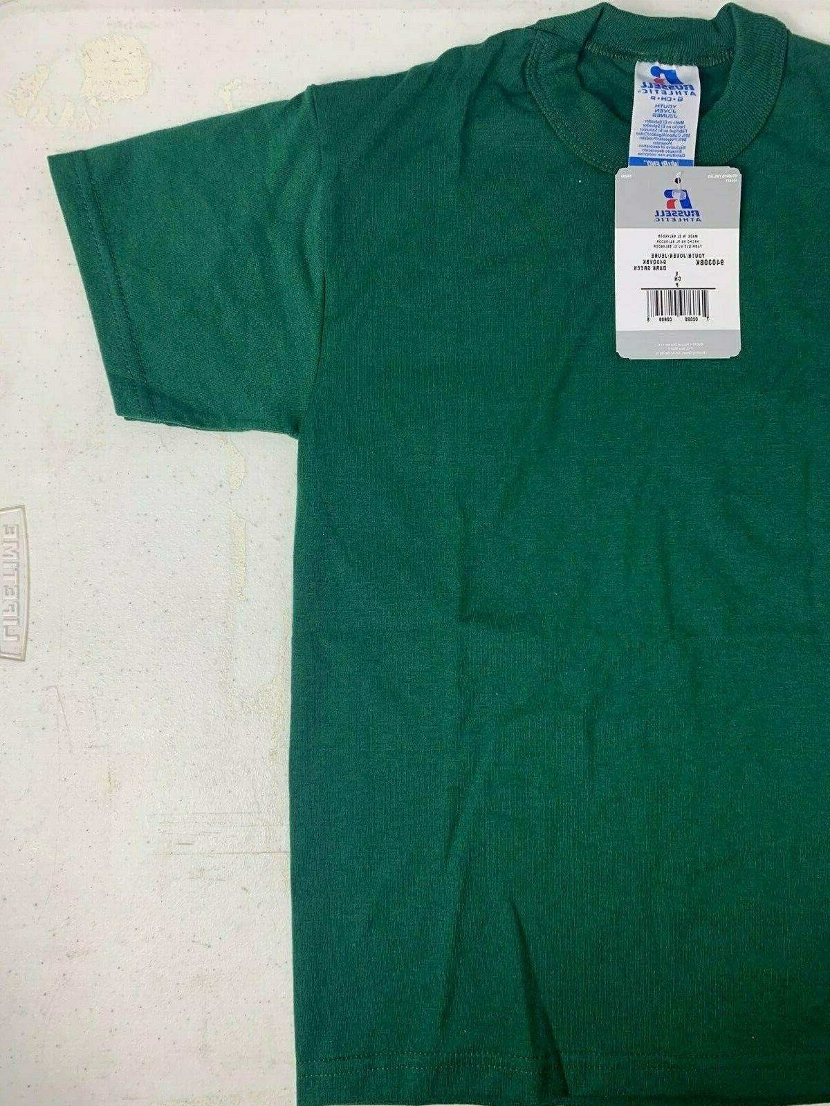 Russell Athletic Youth T-Shirt NWT Green Size or M T4