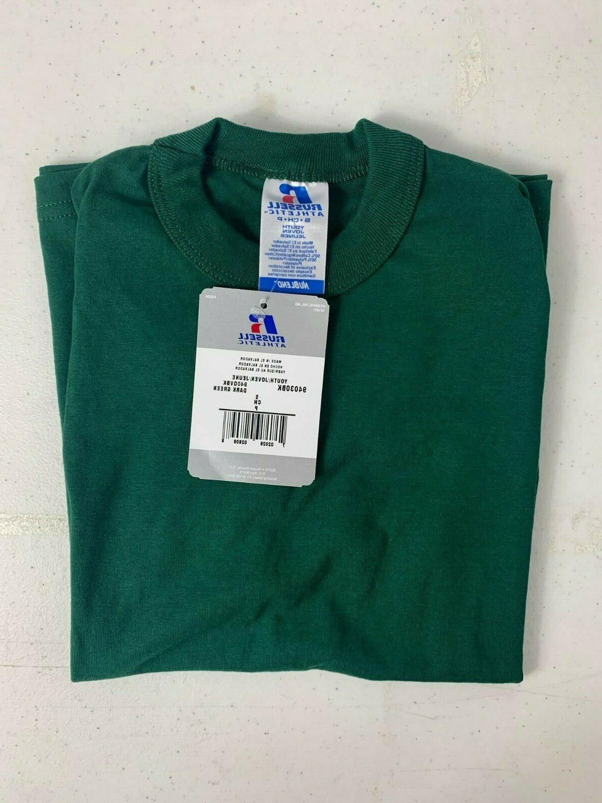 Russell Youth T-Shirt NWT Dark Green Size or T4