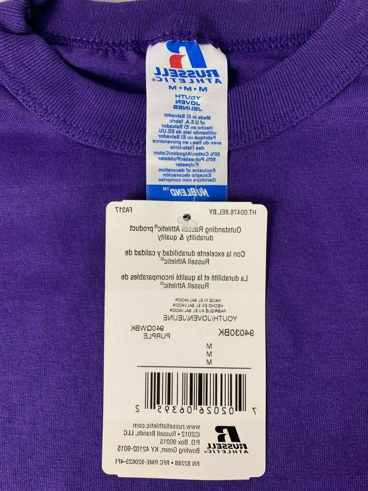 Russell Blank T-Shirt NWT Purple Various Sizes T5
