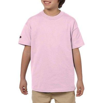 Champion Youth/Boys Crewneck Basic Jersey Tee T-Shirt, Pale