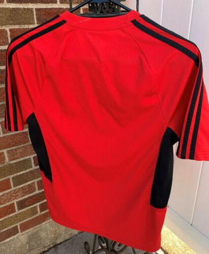 ADIDAS Youth T-Shirt Red and Black EUC