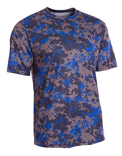 youth camo performance tee royal x large