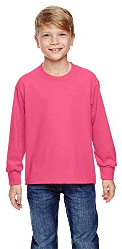 Fruit of the Loom Youth Heavy Cotton Long-Sleeve T-Shirt, Sm