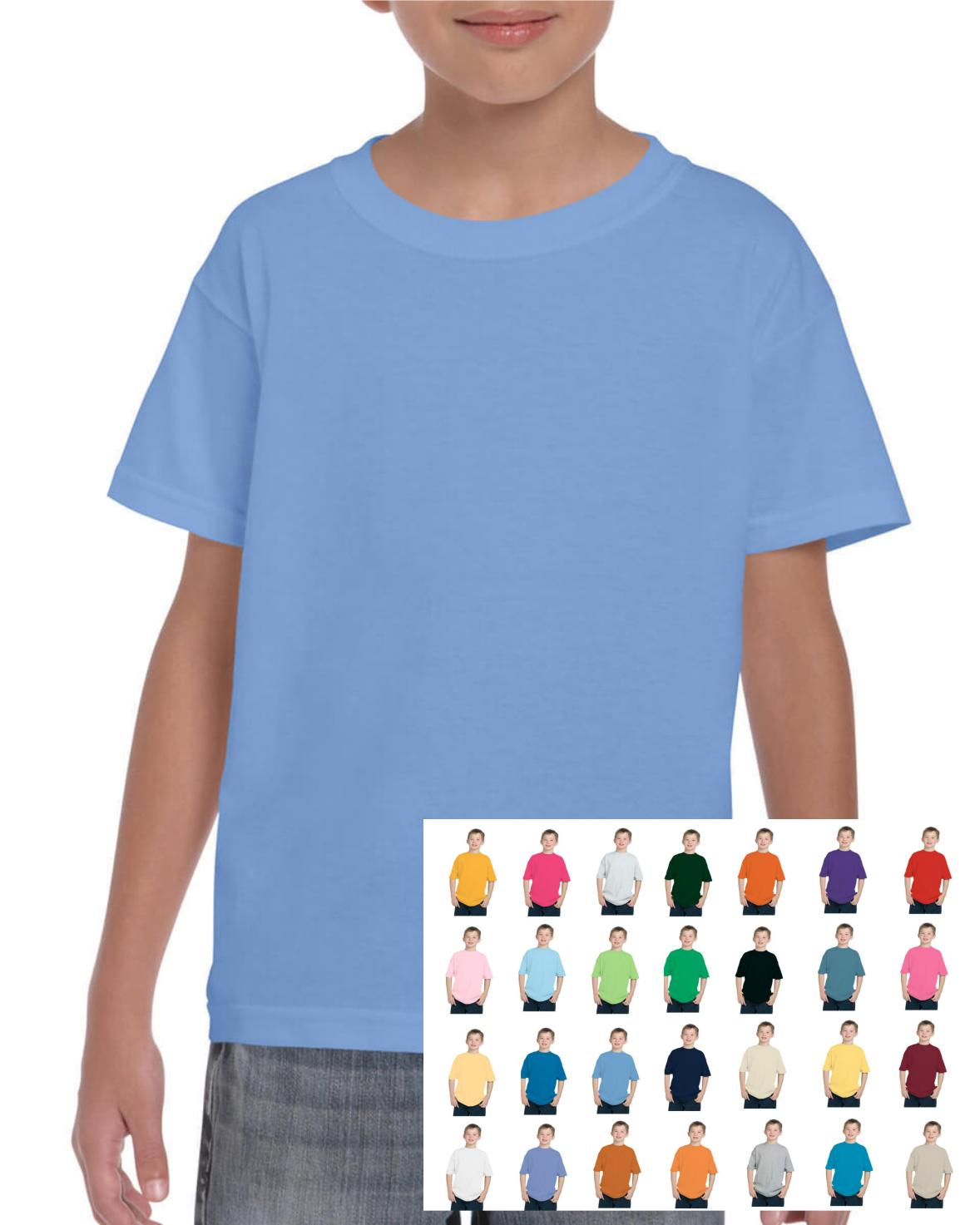 Gildan Youth Kid's Child Adult Cotton T-shirt Plain Blank G5