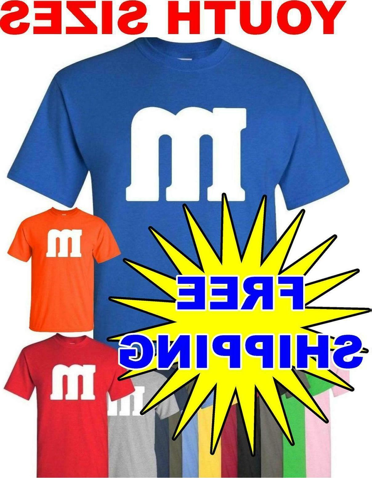 youth m and m t shirt halloween