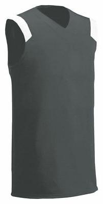 A4 Youth Moisture Wicking Polyester V Neck Sleeveless Sports