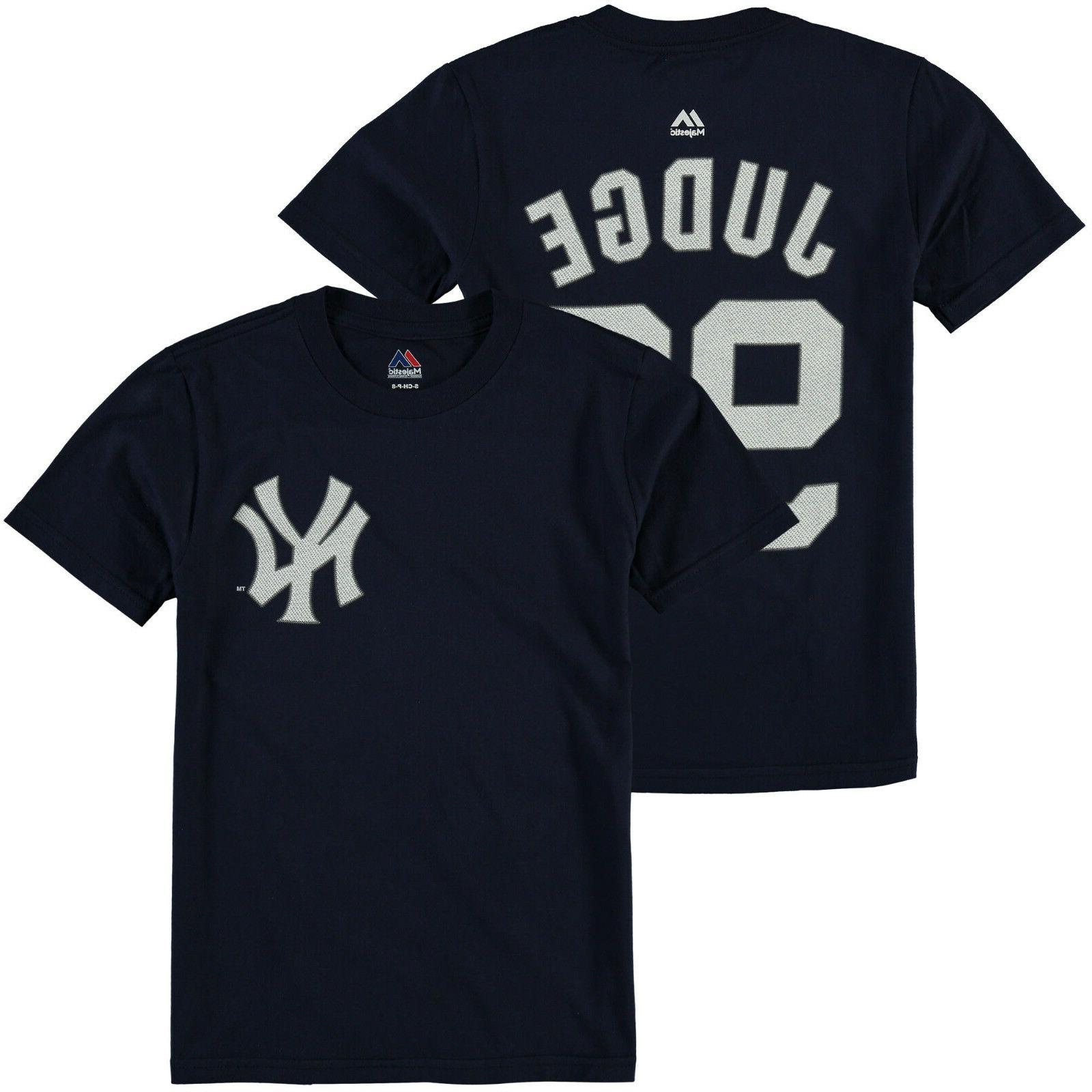 Youth New York Yankees Aaron Judge Majestic Navy Blue Jersey